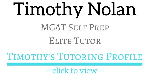 MCAT Self Prep Elite Tutor Timothy Nolan